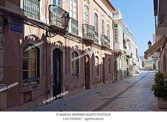 Architecture in the center of Faro, Algarve, Portugal, Europe