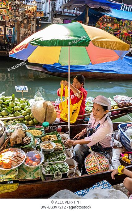floating market at Damnoen Saduak , Thailand