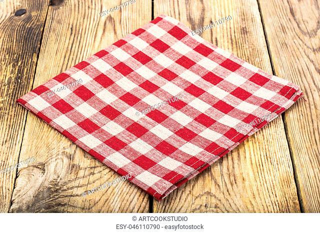 Cloth napkins Serving in cage. Studio Photo