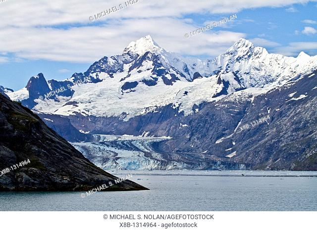 A look at Johns Hopkins Glacier in Glacier Bay National Park in Southeast Alaska, USA  MORE INFO This 12-mile-long 19 km tidewater glacier was named for Johns...