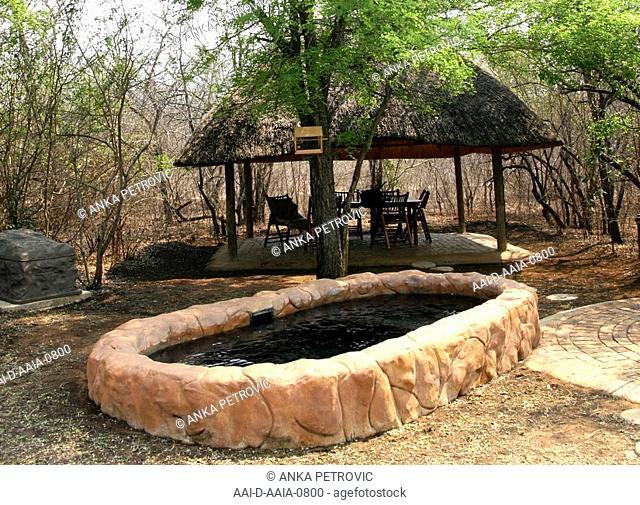Outdoor sitting area, Jackalberry Ridge, Marloth Park, Mpumalanga, South Africa