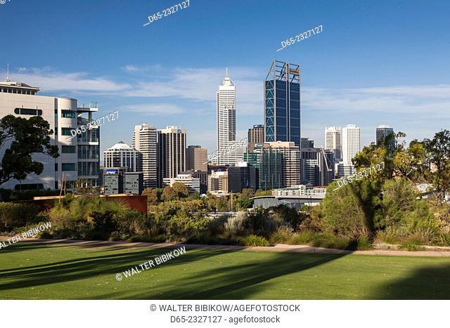 Australia, Western Australia, Perth, city skyline from Kings Park, late afternoon