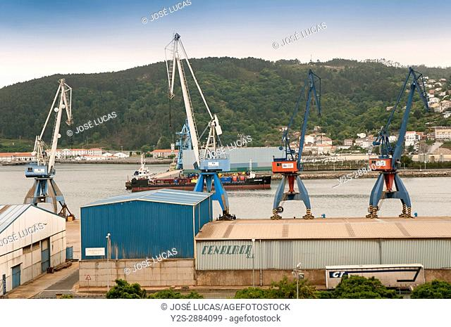 Port of goods, Ferrol, La Coruna province, Region of Galicia, Spain, Europe