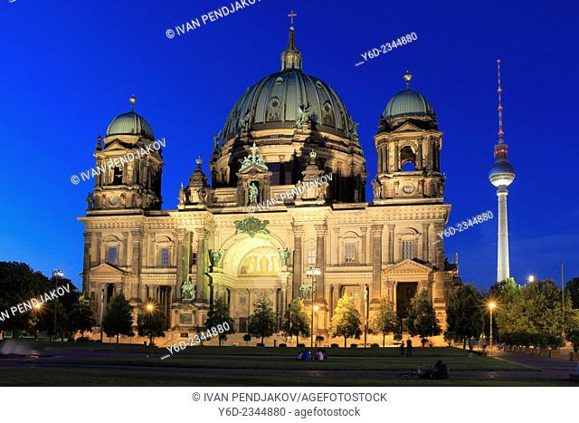 Berlin Cathedral at Night, Germany