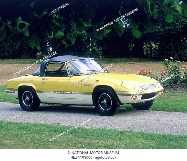 1972 Lotus Elan Sprint. 1300 of these cars were produced between 1971 and 1973. They were capable of a top speed of 121 mph