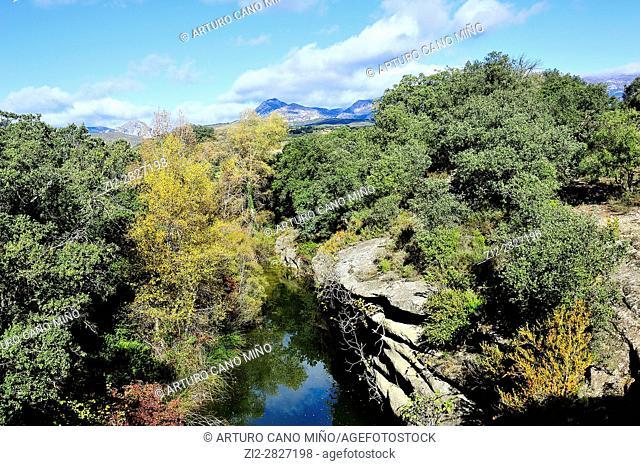 Hoya de Huesca Area, in the background is the Sierra de Guara. Huesca province, Aragon, Spain