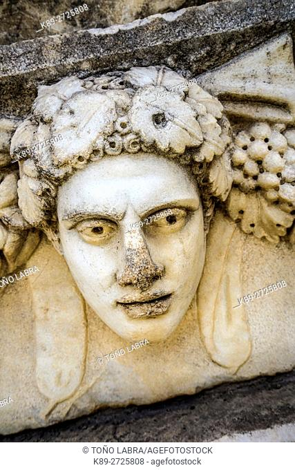 Sebasteion Figurehead. Aphrodisias. Ancient Greece. Asia Minor. Turkey