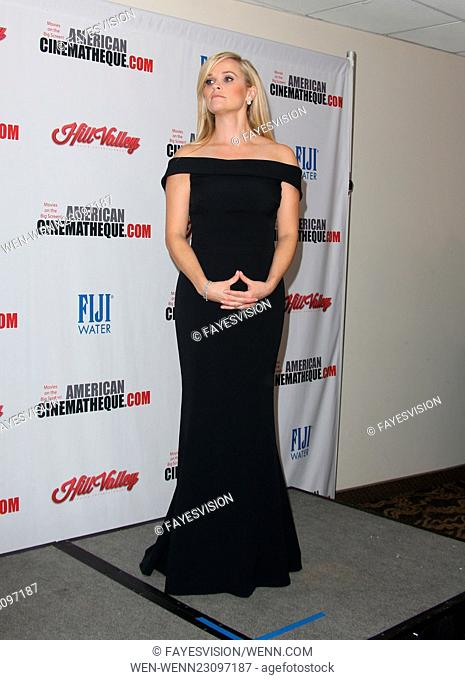 29th American Cinematheque Award honoring Reese Witherspoon - Press Room Featuring: Reese Witherspoon Where: Los Angeles, California