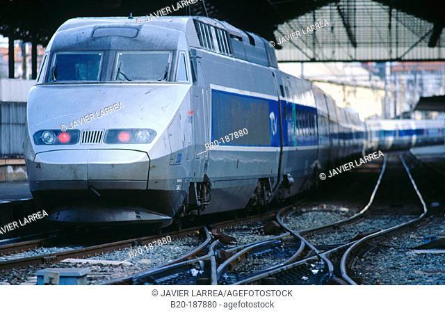 TGV (High-Speed train). Hendaye. France (Spanish-French border)