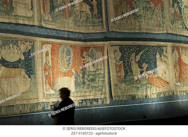 Apocalypse of Saint John tapestry in the Castle of Angers, Angers, Maine et Loire Vallye, France