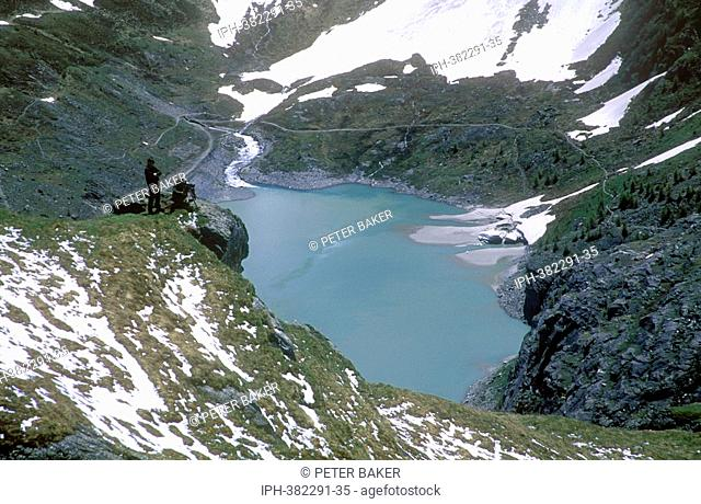 Picturesque view from the High alpine road near the Grossglockner Glacier