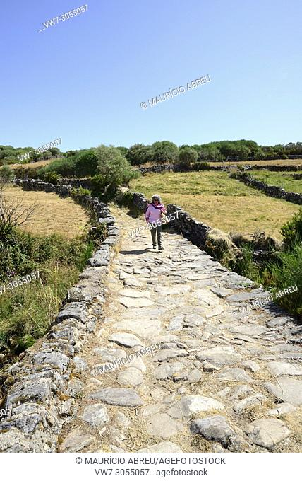 Medieval road from Portos to Castro Laboreiro, that linked Portugal to Galicia in Spain. Peneda Geres National Park, Portugal