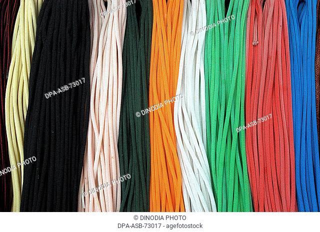 Colorful shoe laces for sale , Mumbai Bombay , Maharashtra, India