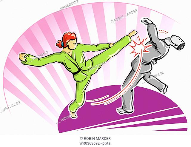 Two Practitioners of Karate