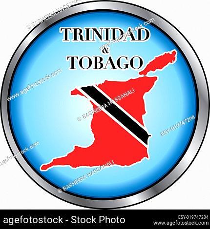 Trinidad Tobago Round Button