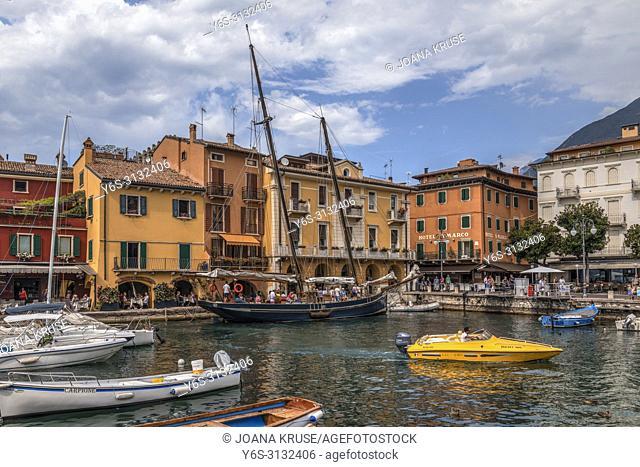 Malcesine, Lake Garda, Verona, Veneto, Italy, Europe