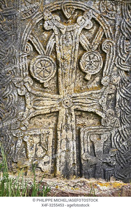 Armenie, region de Gegharkunik, lac Sevan, cimetière de Noradouz / Armenia, Gegharkunik province, Sevan Lake, Noradouz cimetery