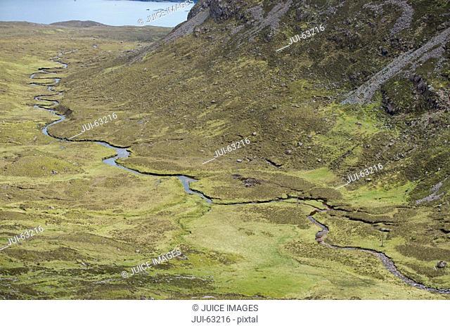 River meander, Highlands, Scotland