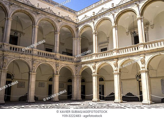 Cloister, University of Catania, Catania, Sicily, Italy