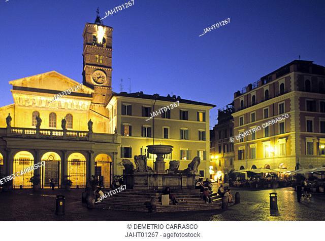 Piazza Santa Maria, Rome, Italy
