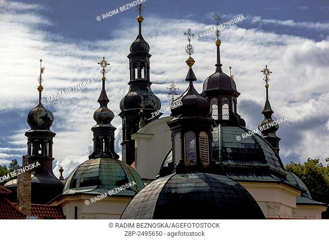 Baroque Pilgrimage Church of the Assumption, Klokoty, Tabor, South Bohemia, Czech Republic