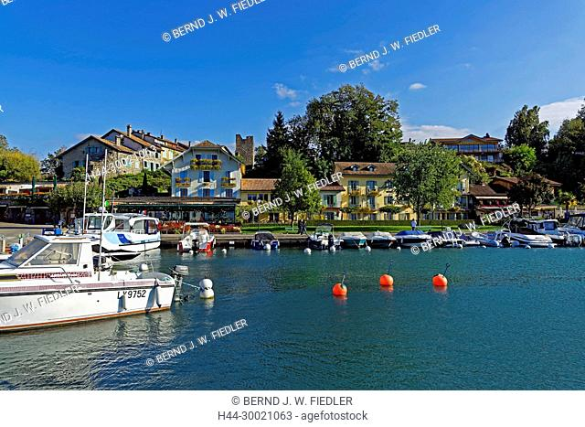 Sportboothafen, Port de Plaisance, Uferpromenade, Genfer See