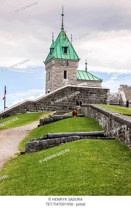 Canada, Quebec, Quebec City, Citadel on hill