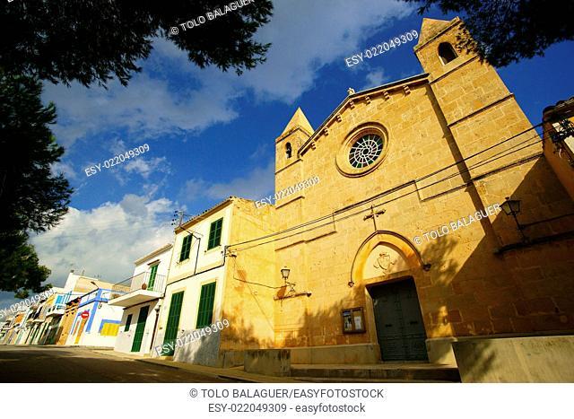 Iglesia de la Mare de Déu del Carme. Porto Colom. Felanitx. Migjorn. Mallorca. Baleares. España