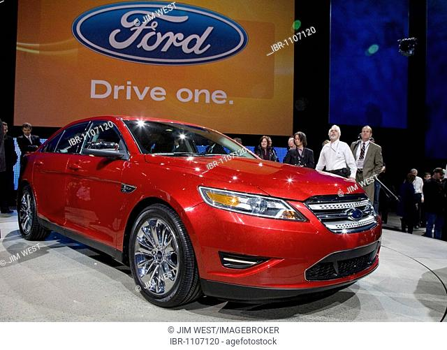 The Ford Taurus on display at the North American International Auto Show, Detroit, Michigan, USA