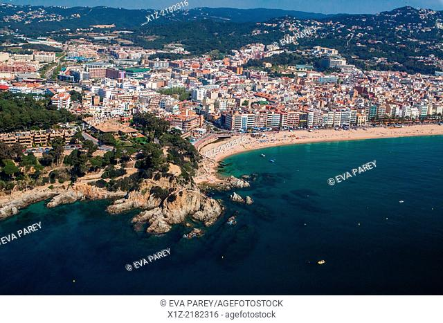 Lloret de Mar bay. Costa Brava