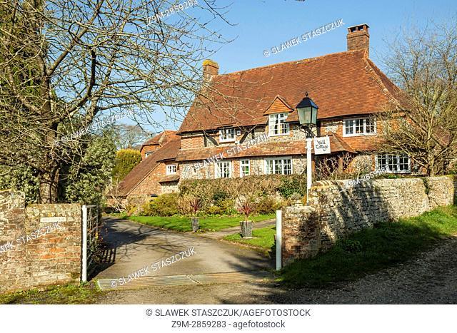 Traditional cottage in Halnaker, West Sussex, England