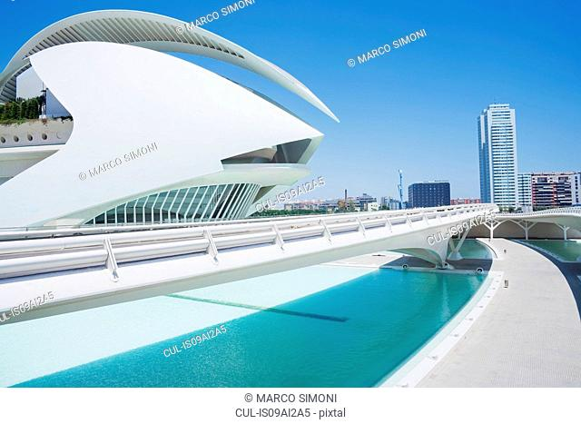 Walkway at City of Arts and Sciences, Valencia, Spain