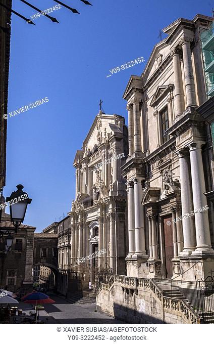 Church of San Benedetto and Church of San Francesco Borgia, Catania, Sicily, Italy
