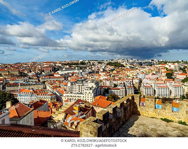 Portugal, Lisbon, Cityscape viewed from the Sao Jorge Castle