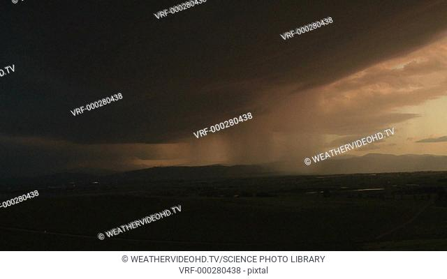 High-speed footage of lightning strikes during a storm. One is a single-stroke strike and the other a multi-stroke. Slowed down around five times