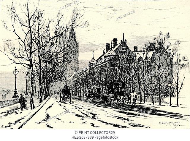 The Embankment, Westminster', c1892, (1894). Artist: Herbert Menzies Marshall