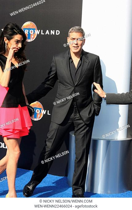 Tomorrowland Premiere Featuring: Amal Alamuddin Clooney, George Clooney Where: Lake Buena Vista, California, United States When: 10 May 2015 Credit: Nicky...