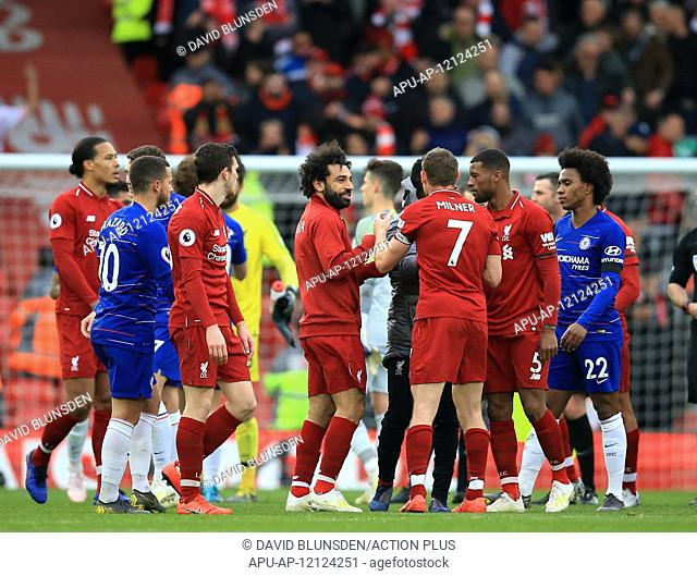 2019 EPL Premier League Football Liverpool v Chelsea Apr 14th. 14th April 2019, Anfield, Liverpool, England; EPL Premier League football