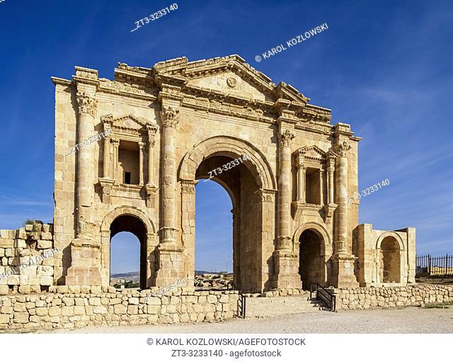 Hadrain's Arch, Jerash, Jerash Governorate, Jordan