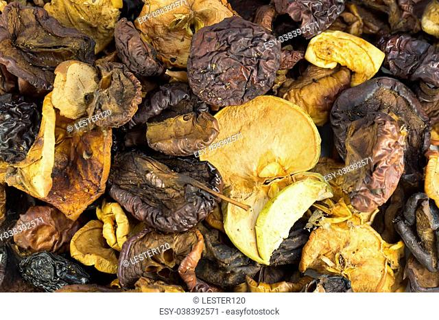background of dried fruit
