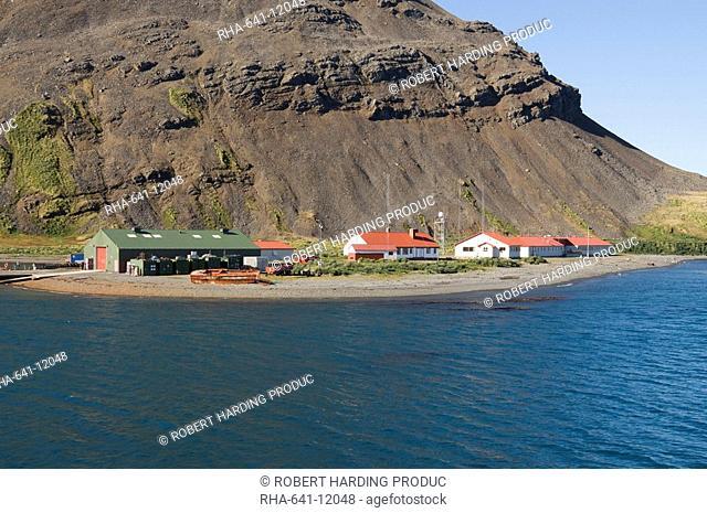 British Antarctic Survey site, King Edwards point, Grytviken, South Georgia, South Atlantic