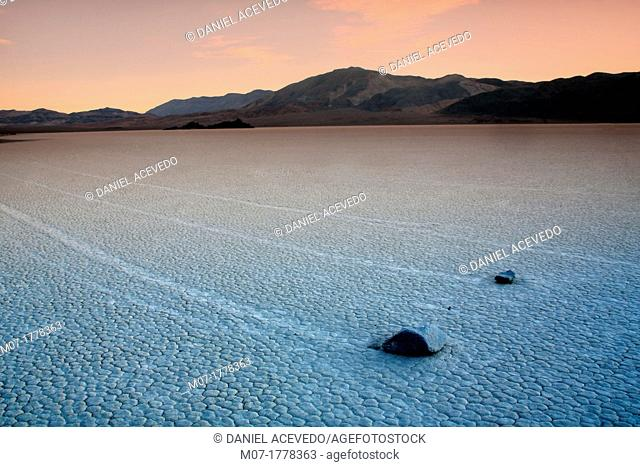 Death Valley, Moving Rocks, California, USA