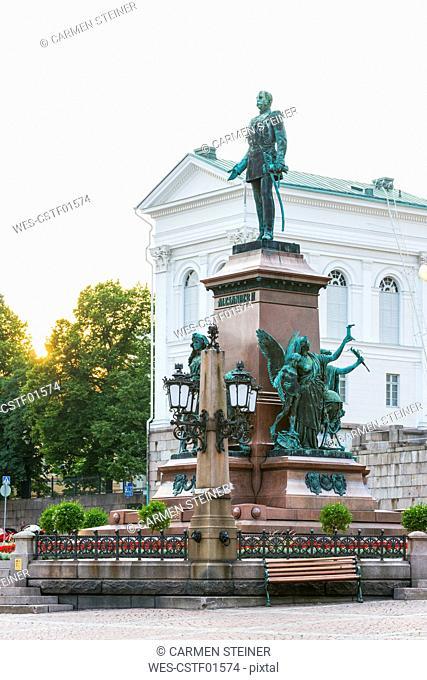 Finland, Helsinki, Monument of Alexander II