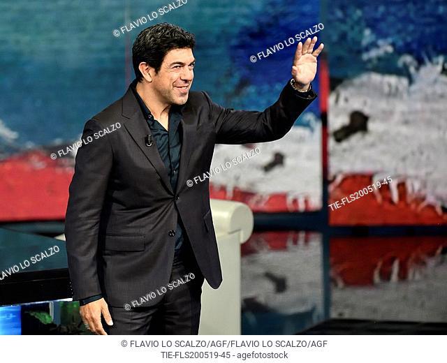 Italian actor Pierfrancesco Favino during the tv show Che tempo che fa, Milan, ITALY-19--05-2019