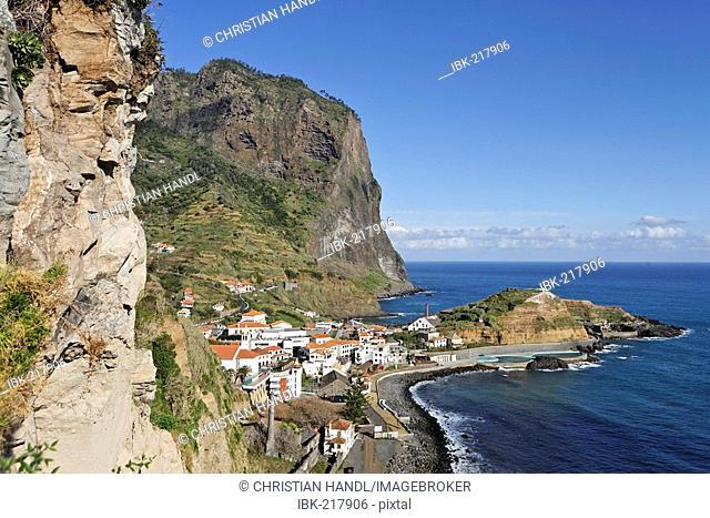 A nice village at the North coast, Porto da Cruz, Madeira, Portugal