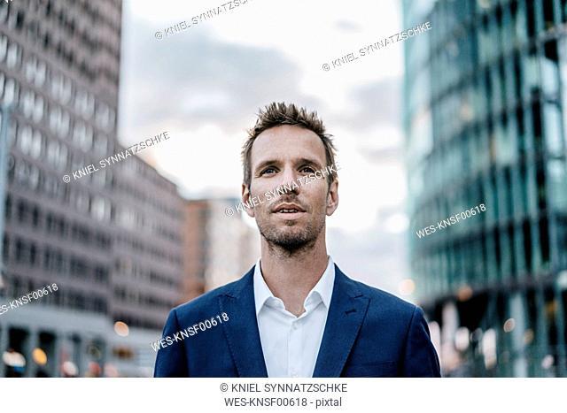 Portrait of businessman with stubble
