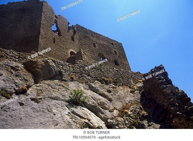 Queribus Castle Pyrenees Aude France