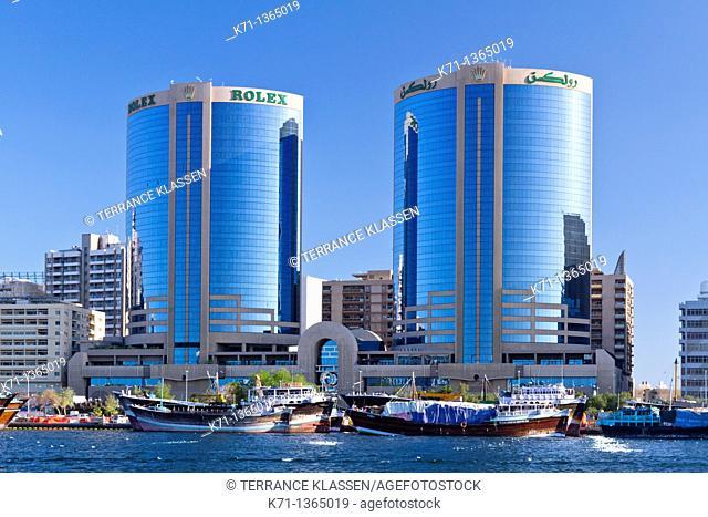 The Dubai Creek skyline office towers in Dubai, UAE, Persian Gulf