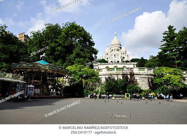 Paris. Basilica of the Sacred Heart of Paris