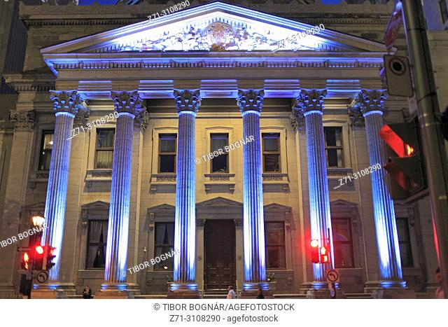 Canada, Montreal, Old Montreal, Place d'Armes, Bank of Montreal Building,